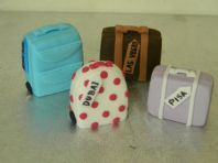 Set of 4 Suitcase Cake Toppers